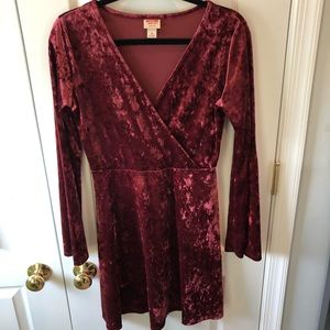 Crushed velvet dress size M